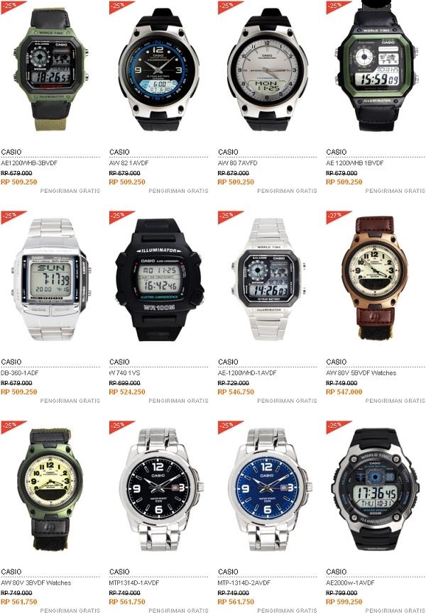 Harga Jam Tangan Casio - 500 Ribuan