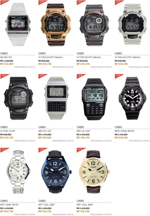 Harga Jam Tangan Casio - 600 Ribuan - 900 Ribuan