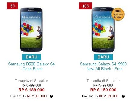 Harga Samsung Galaxy S4 GT-I9500