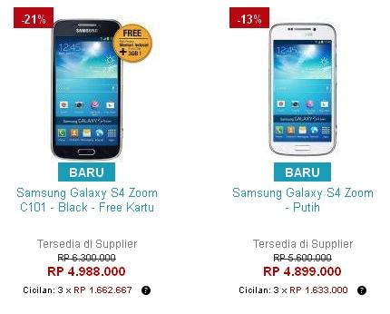 Harga Samsung Galaxy S4 Zoom SM-C101