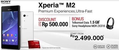 Harga Xperia M2 dan Xperia M2 Dual SIM Di BliBli