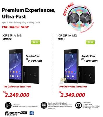 Harga Xperia M2 dan Xperia M2 Dual SIM Di Erafone