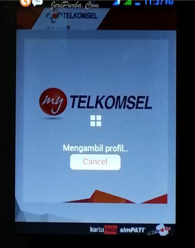 Loading Apikasi MyTelkomsel di Android
