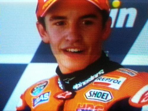 Marc Marquez Naik Podium Juara MotoGP Spanyol 2014