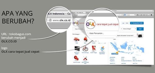 Perubahan Nama, Logo dan Domain Toko Bagus Menjadi OLX
