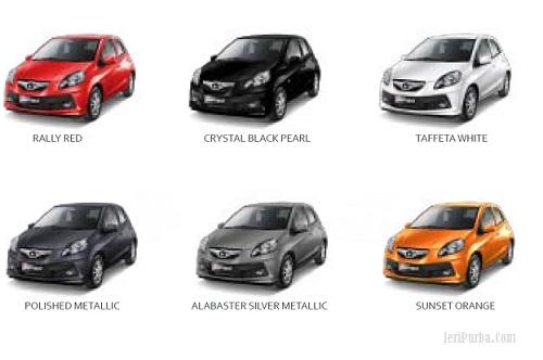 Pilihan Warna Mobil Honda Brio Satya