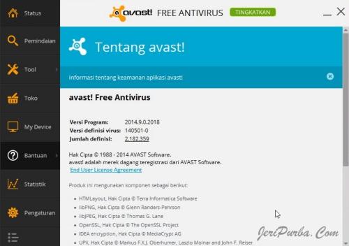 Update Antivirus Avast 2014 versi 9.0.2018