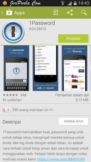 Cara Install Aplikasi 1Password di hp Android