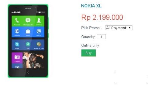 Harga Nokia XL (Nokia Android) Di Indonesia - GlogalTeleshop.Com