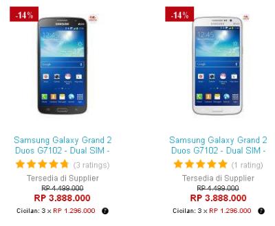 Harga Samsung Galaxy Grand 2 Di Lazada Juni 2014