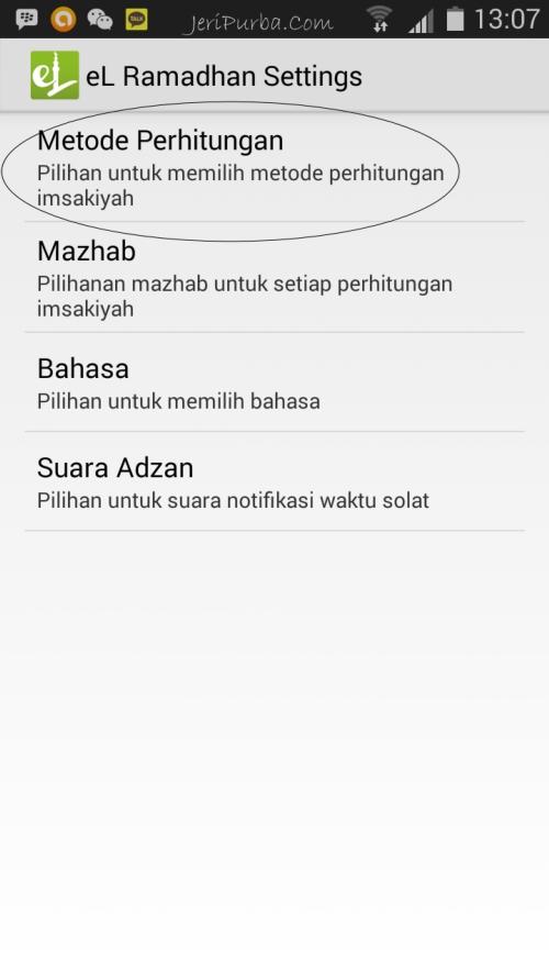 Metode Perhitungan Imsakiyah 2014 Pada Aplikasi El Ramadhan