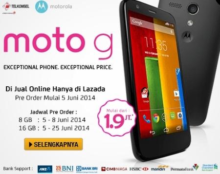 Pre Order Motorola Moto G