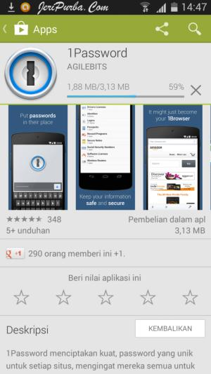 Proses Download Aplikasi 1Password for Android
