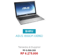 Harga Notebook Asus X550DP