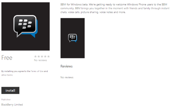 Link Download file XAP BBM Untuk Windows Phone