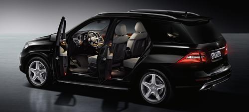 Gambar Mobil Anti Peluru Mercedes-Benz M-Class Guard.