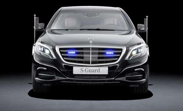 Gambar Mobil New Mercedes-Benz S600 Guard Tampak Depan