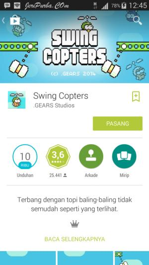 Game Swing Copters Android Pengganti Game Flappy Bird