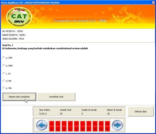 Latihan Soal Dalam Simulasi Tes CAT Dari BKN