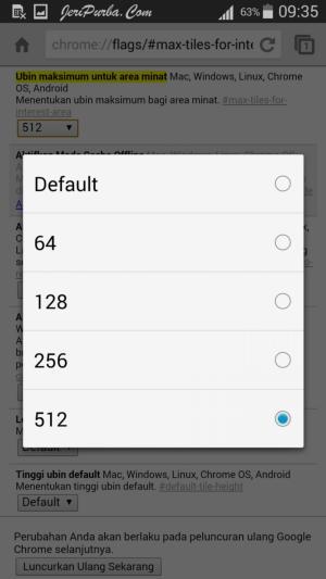 Memperbesar Memori Pada Google Chrome Android