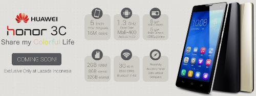 Preorder dan Harga Huawei Honor 3C Di Indonesia