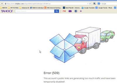 Simulasi CAT BKN Di Dropbox Tidak Bisa Di Download