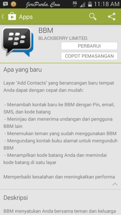 Update BBM For Android 2.2.1.45