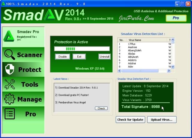 Download Smadav 2014 Terbaru Versi 9.8