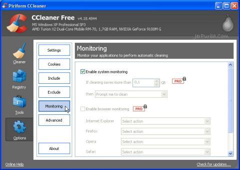 Fitur Active System Monitoring Pada CCleaner v4.18.4844