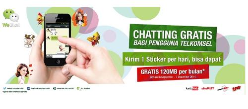 Program Semua Gratis WeChat dan Telkomsel