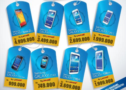 Promo Tablet dan HP Samsung