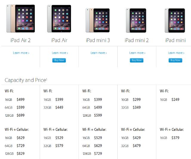 Daftar Harga iPad Air 2 dan iPad Mini 3