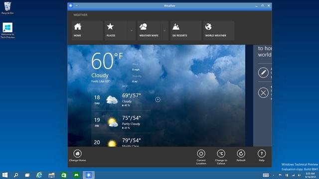 Fitur Terbaru Windows 10 Berjalan dalam mode windows