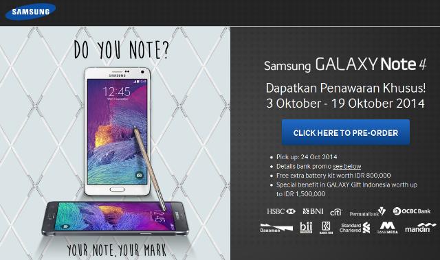 GalaxyLaunchPack.Com - Website Resmi Pre-Order Samsung Galaxy Note 4 di Indonesia