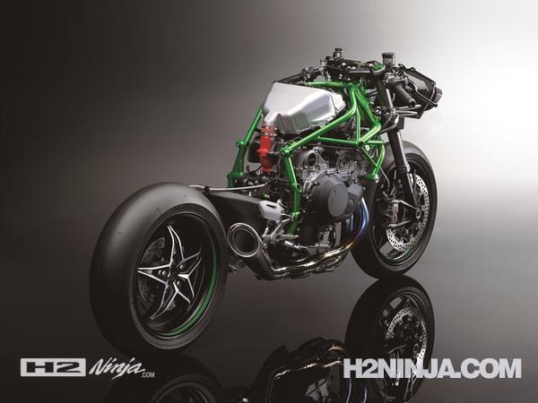 Gambar Rangka Kawasaki Ninja H2 2015 Tampak Belakang