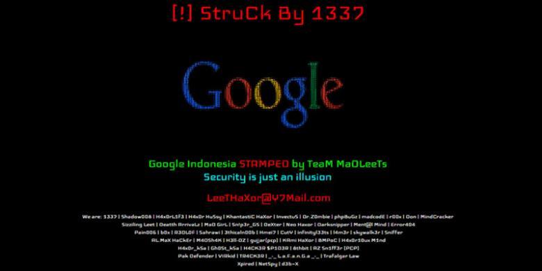 Google.Co.Id Kena Deface Oleh Hacker MadLeets