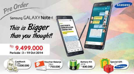 Harga Samsung Galaxy Note 4 Di Indonesia - Erafone.com