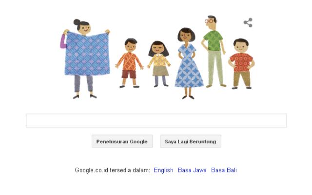 Hari Batik 2014 Google Doodle