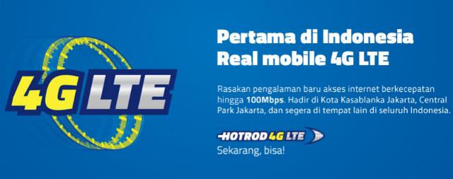 Layanan Internet Kecepatan Tinggi HOTROD 4G LTE Dari XL