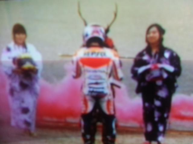 Marquez Menerima Samurai Untuk Memotong Tali Balon Udara
