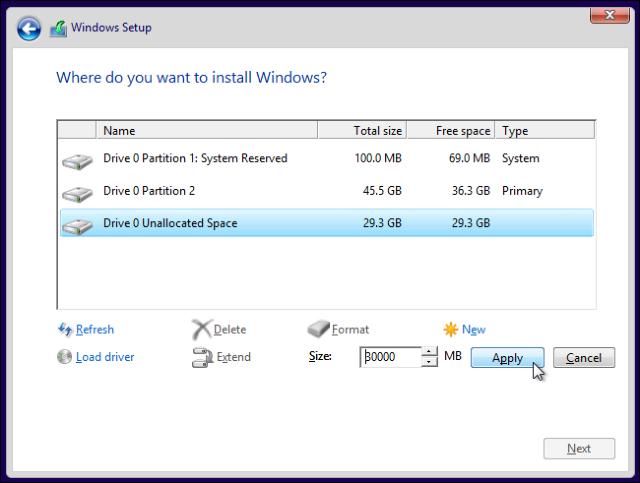 Membuat Partisi Baru Untuk Menginstall Windows 10