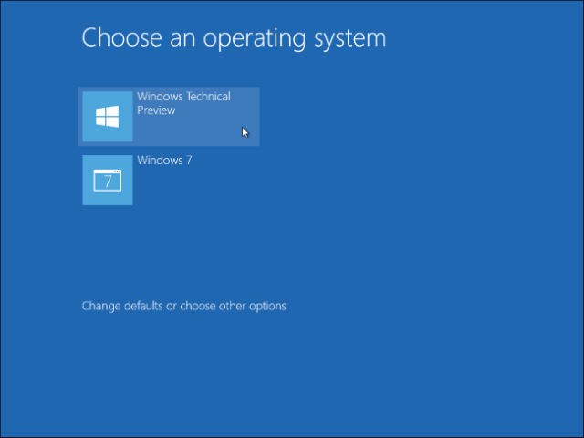 Pilihan Boot Sistem Operasi Windows 10 dan Windows 7