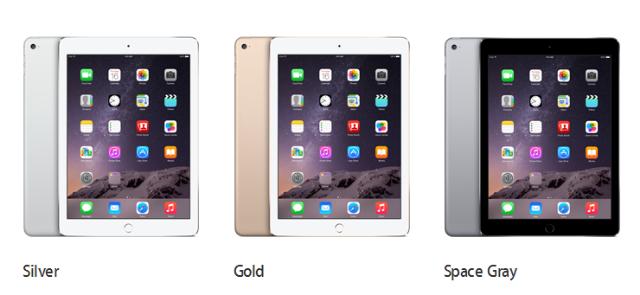 Pilihan Warna dan Spesifikasi iPad Air 2 dan iPad Mini 3