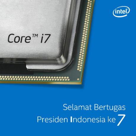 Ucapan Selamat Kepada Presiden Jokowi Dari Intel Indonesia