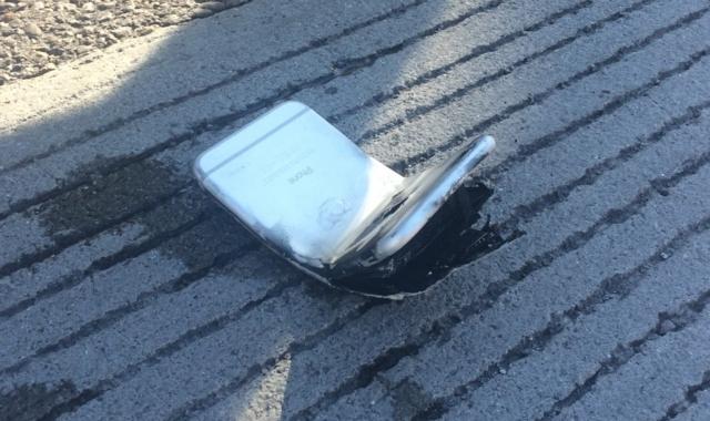 iPhone 6 Bengkok dan Terbakar