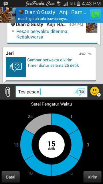 Fitur Timer Pesan BBM Android Terbaru