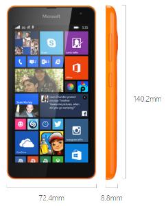 Spesifikasi Microsoft Lumia 535