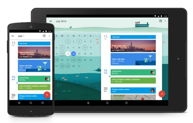 Tampilan Aplikasi Google Kalender Untuk Android Terbaru