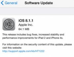 Update iOS 8.1.1 Untuk iPhone dan iPad