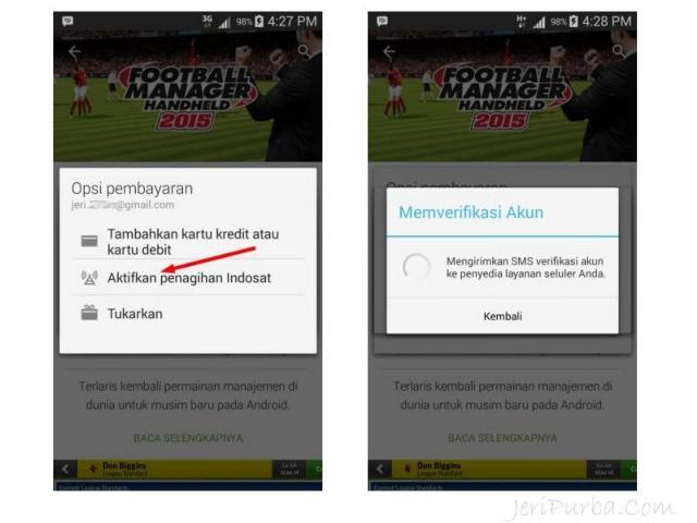 Cara Beli Aplikasi Android Dengan Pulsa Indosat Mentari dan IM3